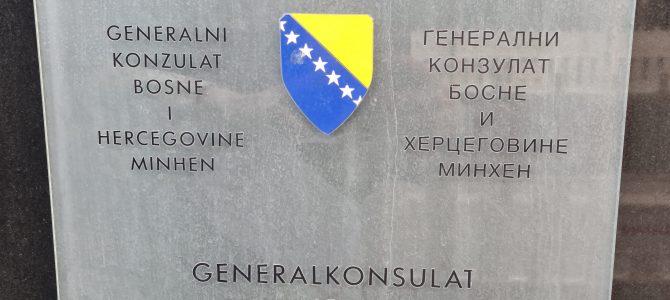 Obavještenje o radu Generalnog konzulata Bosne i Hercegovine u Minhenu